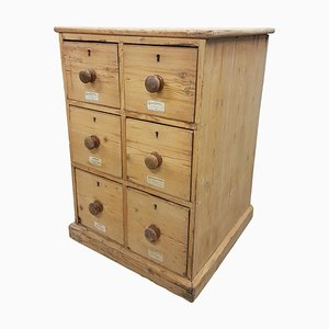 19th Century Pine Apothecary Drawers