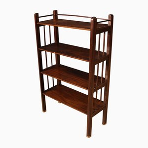 Art Deco French Mahogany and Brass Etagere, 1930s