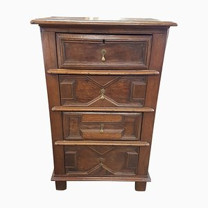 19th Century French Oak and Fruit Wood Chest of Drawers