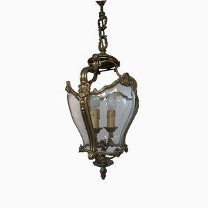 Laterne aus Bronze und mundgeblasenem Glas, 1950er