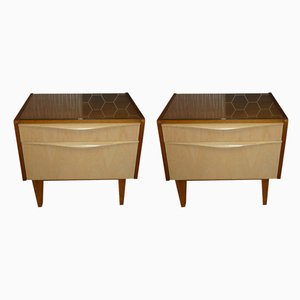 Mid-Century German Beside Cabinets, Set of 2