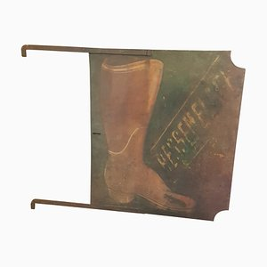 Cartel de zapatero francés de doble cara, siglo XIX