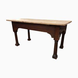 Tavolo in palissandro in quercia e pino, XVIII secolo