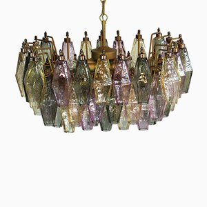 Vintage Italian Glass Chandelier by Carlo Scarpa, 1978