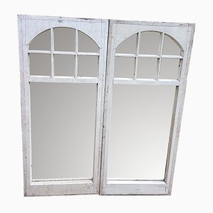 Antique Pine Mirrors, Set of 2