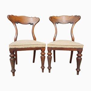 19th-Century Scottish Walnut Side Chairs