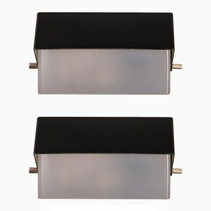 Metal Sconces by Josef Hurka for Napako, 1960s, Set of 2