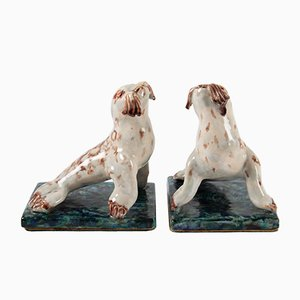Mid-Century French Ceramic Seal Bookends, 1950s, Set of 2