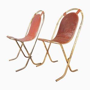 Vintage Metal Side Chairs, 1930s, Set of 2