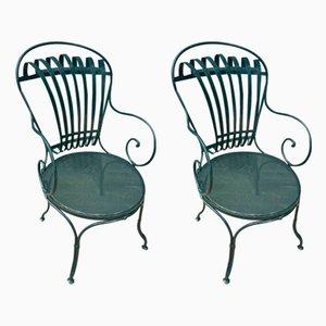 Französische Beistellstühle aus Stahl von Le Corbusier, 1930er, 2er Set