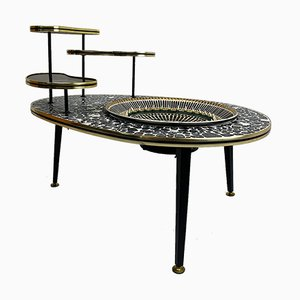 Vintage Plant Stand Table with Electric Fountain