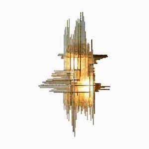 Aplique italiano de vidrio de Albano Poli para Poliarte, años 60