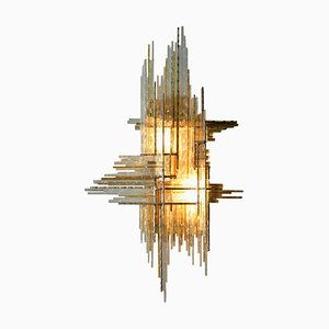 Italian Glass Sconce by Albano Poli for Poliarte, 1960s