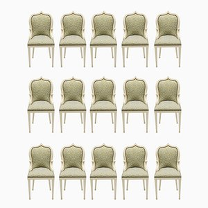 Postmodern French Dining Chairs by Elizabeth Garouste & Mattia Bonetti, 1980s, Set of 15