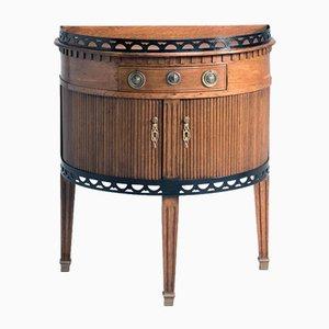 Antiker Halbmond-Schrank aus Eichenholz
