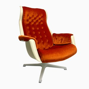 Galaxy Swivel Armchair by Alf Svensson & Yngvar Sandström for Dux, 1968