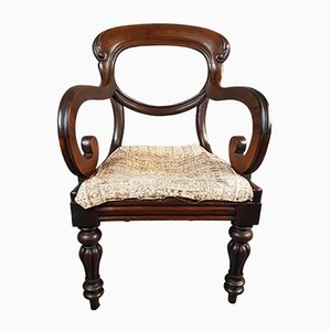 19th Century Red Walnut Armchair