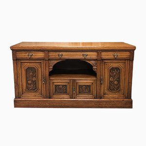 Vintage Art Nouveau Style English Oak Sideboard