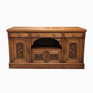 Vintage Art Nouveau Style English Oak Sideboard