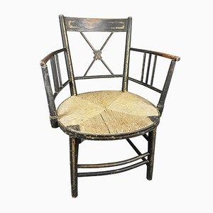 Regency Ebonised & Gilt Armchair
