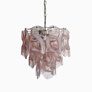 Vintage Italian Glass Chandelier, 1979