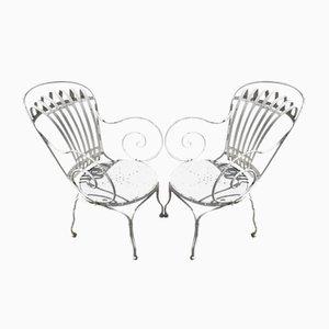 Francois Armlehnstühle aus Stahlrohr von Le Corbusier, 1930er, 2er Set