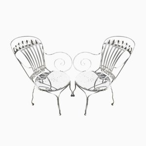 Francois Carre Steel Armchairs by Le Corbusier, 1930s, Set of 2