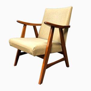Butaca Mid-Century de escai y teca, años 50