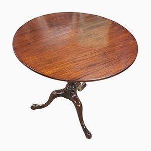 Antiker georgianischer Tisch aus Mahagoni mit kippbarer Tischplatte