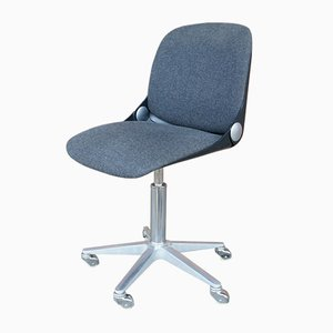Modernist Chrome & Aluminum 232 Desk Chair by W. Ritz for Wilkhahn, 1970s