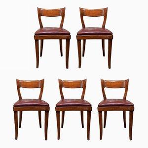 Italienische Esszimmerstühle von Figli di Amedeo für Cassina, 1940er, 5er Set