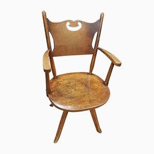Chaise de Bureau Vintage en Orme de Crisp Fowler & Co, 1930s
