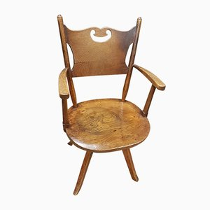 Vintage Elm Desk Chair from Crisp Fowler & Co, 1930s