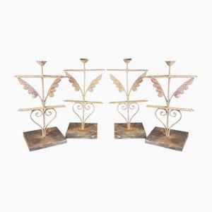 Kerzenständer aus Eisen, 19. Jh., 4er Set