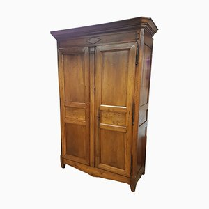 19th-Century French Walnut Wardrobe