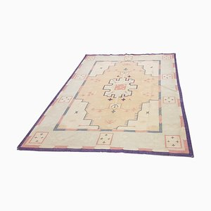 Großer antiker Dhurrie Teppich