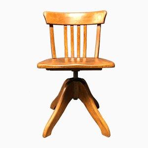 Chaise de Bureau Modèle Federdreh en Hêtre et Acier par Albert Stoll, 1930s