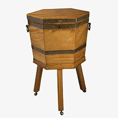 Antiker Weinkühler mit Stand aus Mahagoni, 1800er