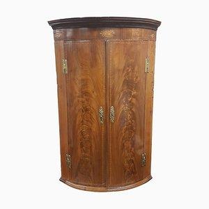 Alacena esquinera George III antigua de caoba