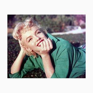 Portrait Marilyn en Vert par Baron