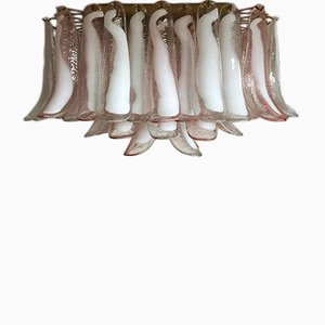 Vintage Italian Glass Chandelier, 1982
