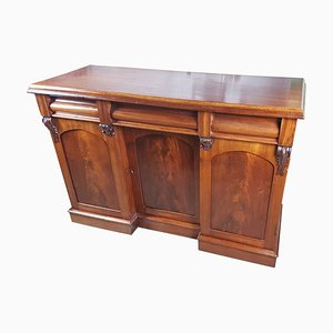 Antique Victorian Flame Mahogany Sideboard