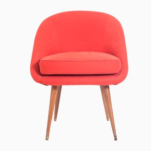 Mid-Century Cocktail Chair aus Teakholz, 1950er