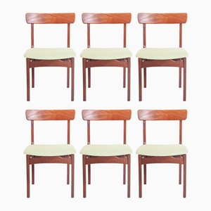 Mid-Century Teak Dining Chairs, 1950s, Set of 6