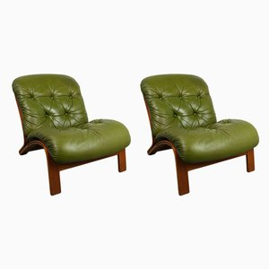 Scandinavian Modern Lounge Chairs by Elsa & Nordahl Solheim for Rybo Rykken & Co., 1970s, Set of 2