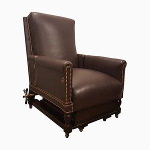 Adjustable Leather Armchair, 1960s