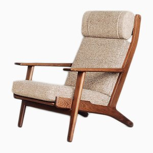 Danish Oak GE 290 Armchair by Hans J. Wegner for Getama, 1960s