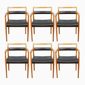 Model OD70 Dining Chairs by Kai Kristiansen for Oddense Maskinsnedkeri, 1960s, Set of 6