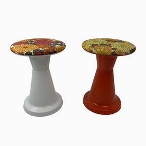 Swedish Plastic Stools, 1970s, Set of 2