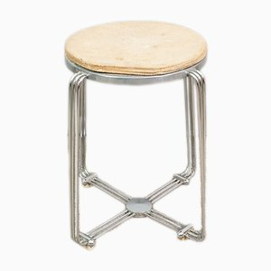 Art Deco Chrome and Cork Stool from Alpax, 1930s